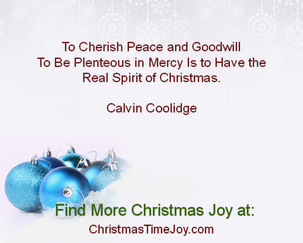 Christmas Quote Calvin Coolidge