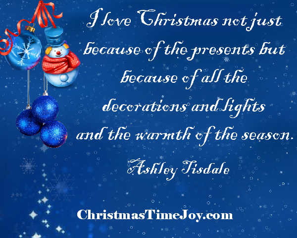 Christmas decorating quotes lights card and decore